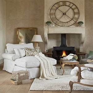 Cozy Living Room Design with Fireplace