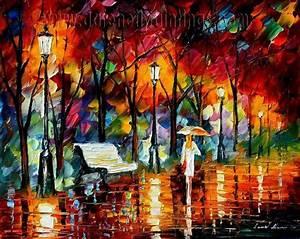 Modern impressionism palette knife oil painting kp137 ...