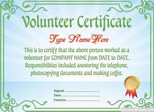 volunteer certificate template free to customize With volunteer of the year certificate template