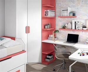 Etagere Sur Bureau : bureau ado avec tag res sur mesure meubles ros ~ Teatrodelosmanantiales.com Idées de Décoration