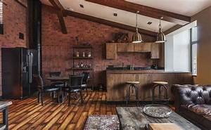 Cuisine Style Industriel Bois : petite cuisine cr ative aux influences modernes ~ Teatrodelosmanantiales.com Idées de Décoration