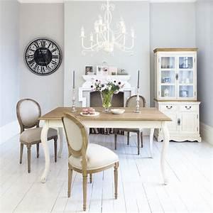 table de salle a manger en bois l 160 cm leontine With salle a manger maison du monde