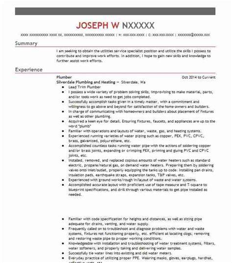 Plumber Resume Exles by Aldfa Free Resume Builder Template Part 3
