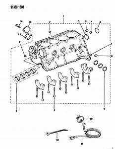 1992 Jeep Wrangler Cylinder Block 2 5l Engine