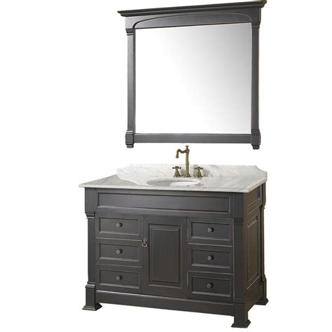 kitchen islands with sinks 48 quot andover 48 black bathroom vanity bathroom vanities