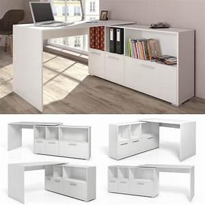 Weißer Hochglanz Schreibtisch : eckschreibtisch wei 90 winkelbar schreibtisch real ~ Frokenaadalensverden.com Haus und Dekorationen