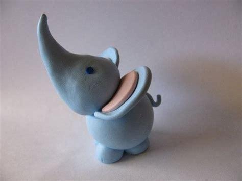 polymer clay elephant  clay elephant molding  cut