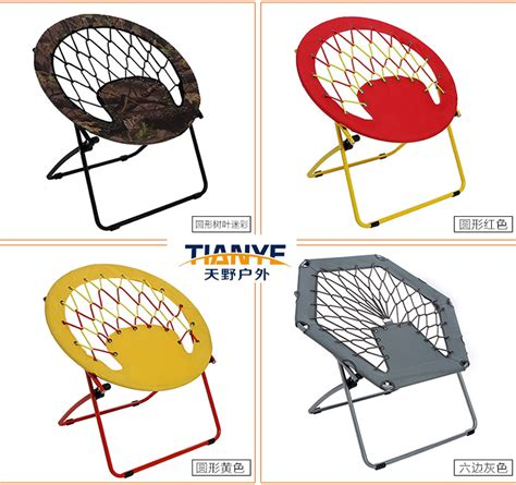 bunjo hex portable folding bungee chair for family room or back yard buy hex bungee chair