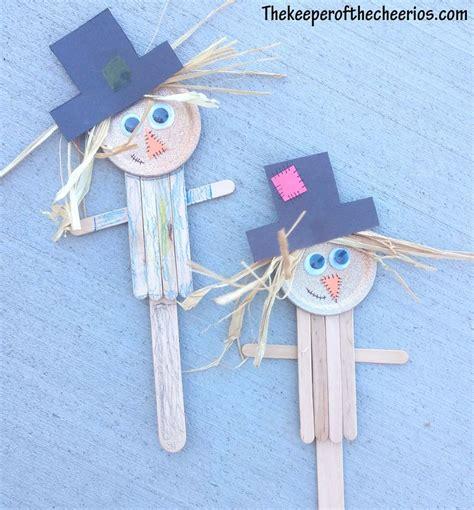 scarecrow popsicle stick craft craft stick crafts