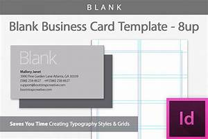Blank business card indesign template b design bundles for Business cards indesign template