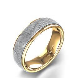 yellow and white gold wedding bands dual two tone wedding band in 14k white yellow gold