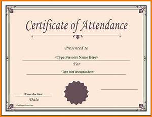 Perfect Attendance Certificate Template Meeting Attendance Certificate Template Gallery Certificate Design And Template