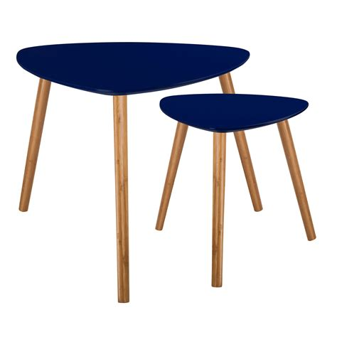 table basse bleu table basse scandinave bleu fonc 233 lot de 2 achetez nos