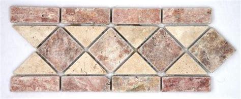frise pierre travertin rouge travertin beige 508 28 5x12