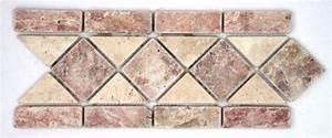 Frise Carrelage Sol : frise pierre travertin rouge travertin beige 508 cm frise travertin as de carreaux ~ Melissatoandfro.com Idées de Décoration