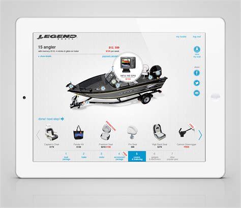 Legend Boats Application constructor application legend boats builder on behance