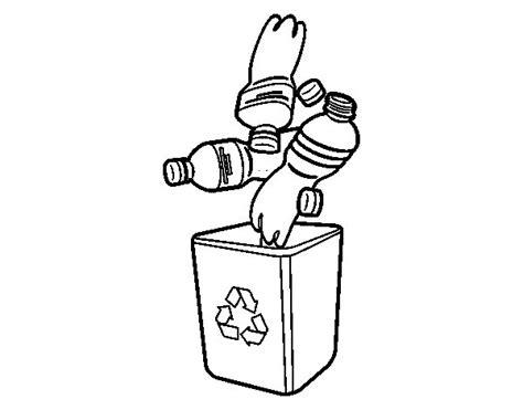 Dibujo de Reciclaje de botellas para Colorear Dibujos net