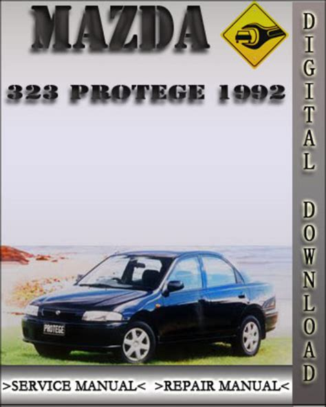 car owners manuals free downloads 1992 mazda familia auto manual 1992 mazda 323 protege factory service repair manual download man