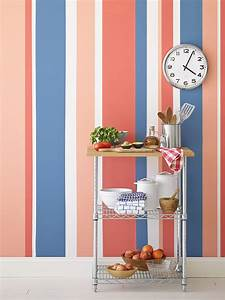 Painting Multicolored Stripes on a Wall