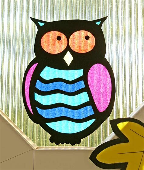 Herbst Fenster Grundschule by Fensterbild Eule Ella22 Owl C