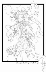 Lineart sketch template