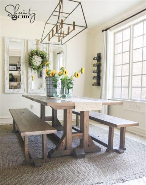 diy farmhouse dining bench plans  tutorial shanty  chic