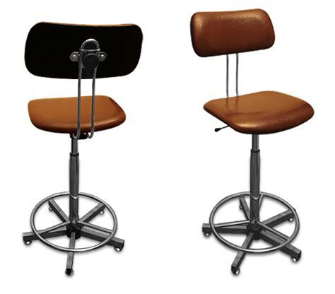 chaise de bureau industriel chaise haute d atelier