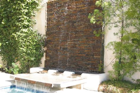 modern outdoor wall fountains pictures landscaping