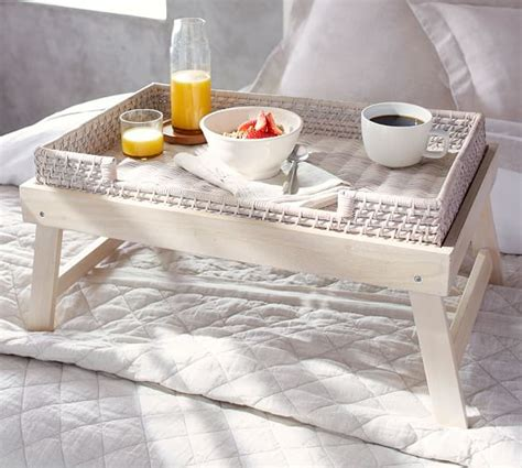 rooms to go console table wood woven breakfast tray pottery barn