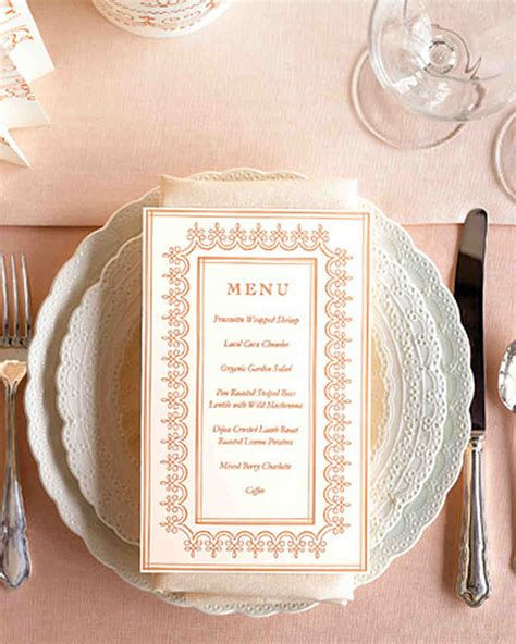 program menu  stationery templates martha stewart