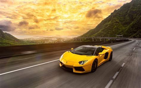 Herunterladen Hintergrundbild Lamborghini Aventador, 2016