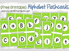 Printable Upper And Lower Case Alphabet Flash Cards