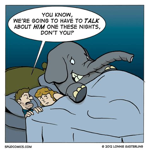 The Bed Comic by Spud Comics 187 Elephant In The Room