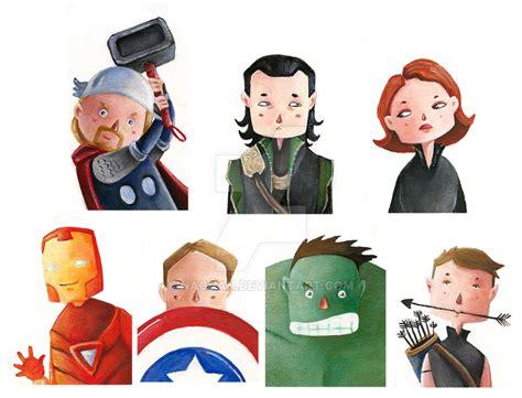 Mini Avengers By Nachan On Deviantart