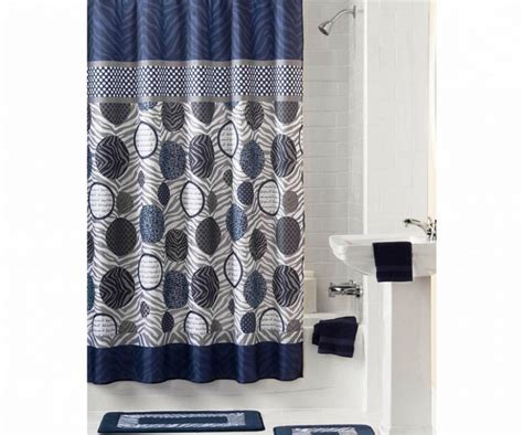 Navy Blue Fabric Shower Curtain Curtain Ideas For Bay Window In Living Room Heavy Duty Plastic Curtains Chocolate And Cream By Length Teal Eyelet Lined Sears Lace Air Sale Polka Dots Shower