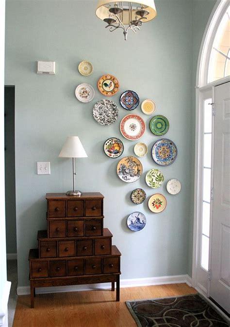 hang plates   wall  create  eye catching