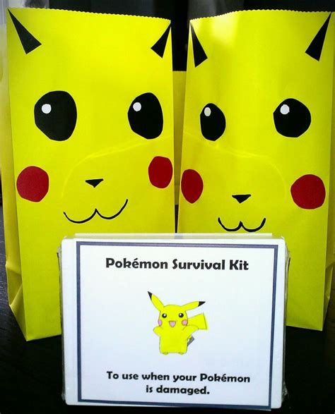 Pikachu Gift Bags Michael39s Birthday Party Ideas
