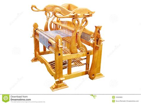 vintage wooden loom royalty  stock photo image