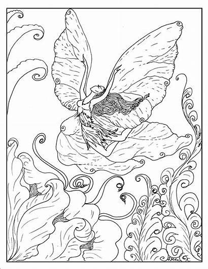 Coloring Pages Fantasy Fairy Printable