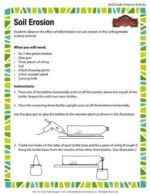soil erosion printable science activity for grade 2
