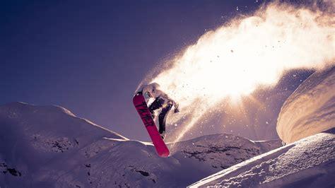 hd hintergrundbilder snowboarden schnee springen trick