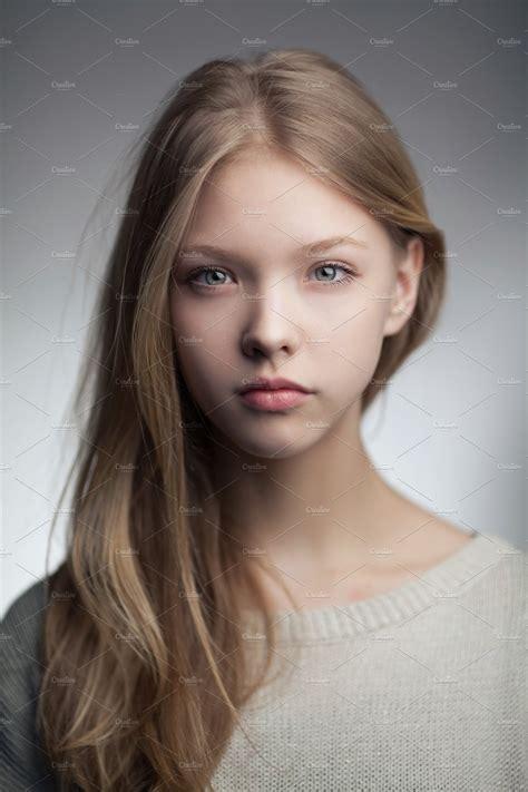 Beautiful Teen Girl Portrait ~ Beauty And Fashion Photos ~ Creative Market