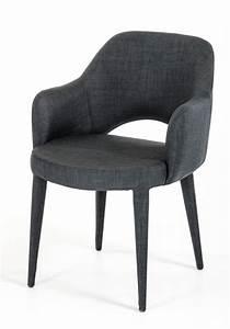 Modrest, Williamette, Modern, Dark, Grey, Fabric, Dining, Chair, -, Dining, Chairs