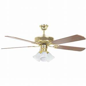 Radionic hi tech tutor in polished brass ceiling fan