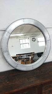 Designer Wandspiegel Groß : spiegel wandspiegel gro silber 88 cm alu deko rund industrie design airman ebay ~ Orissabook.com Haus und Dekorationen