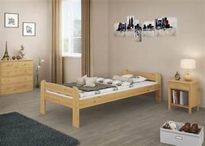 Bett 90x200 Holz : einzelbett jugendbett 90x200 bett kiefer natur massivholzbett futonbett rollrost ~ Whattoseeinmadrid.com Haus und Dekorationen