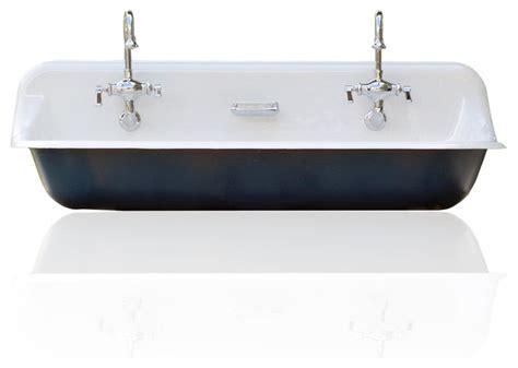 high back dining chairs large 48 quot kohler farm sink cast iron porcelain trough sink