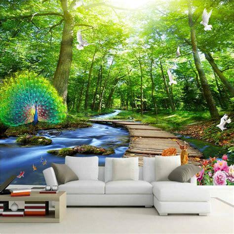 wall paper landscape decorative painting  wallpaper