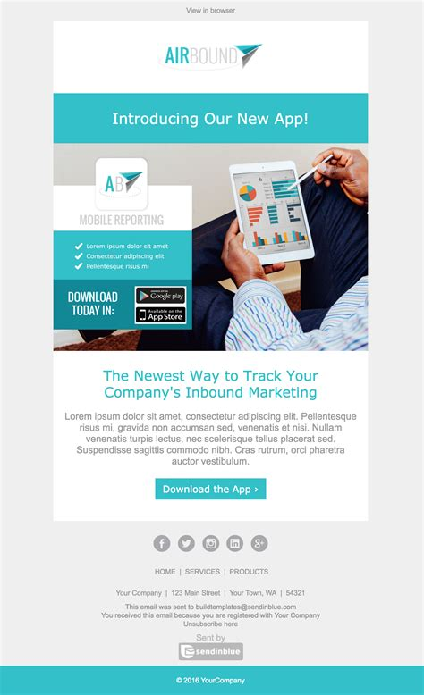 designing an email template top 8 b2b email templates for marketers in 2017