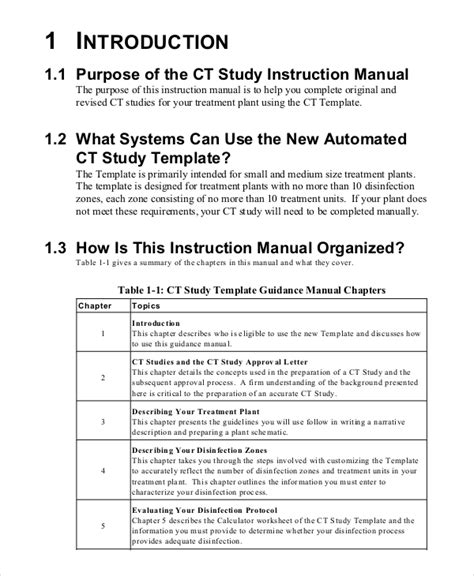 instruction manual template   word  documents